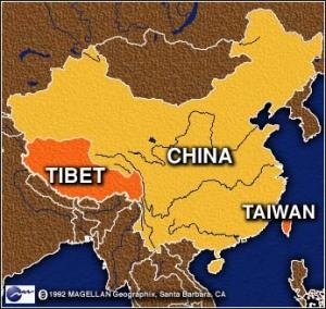 tibet carte de chine Archives - Voyages - Cartes